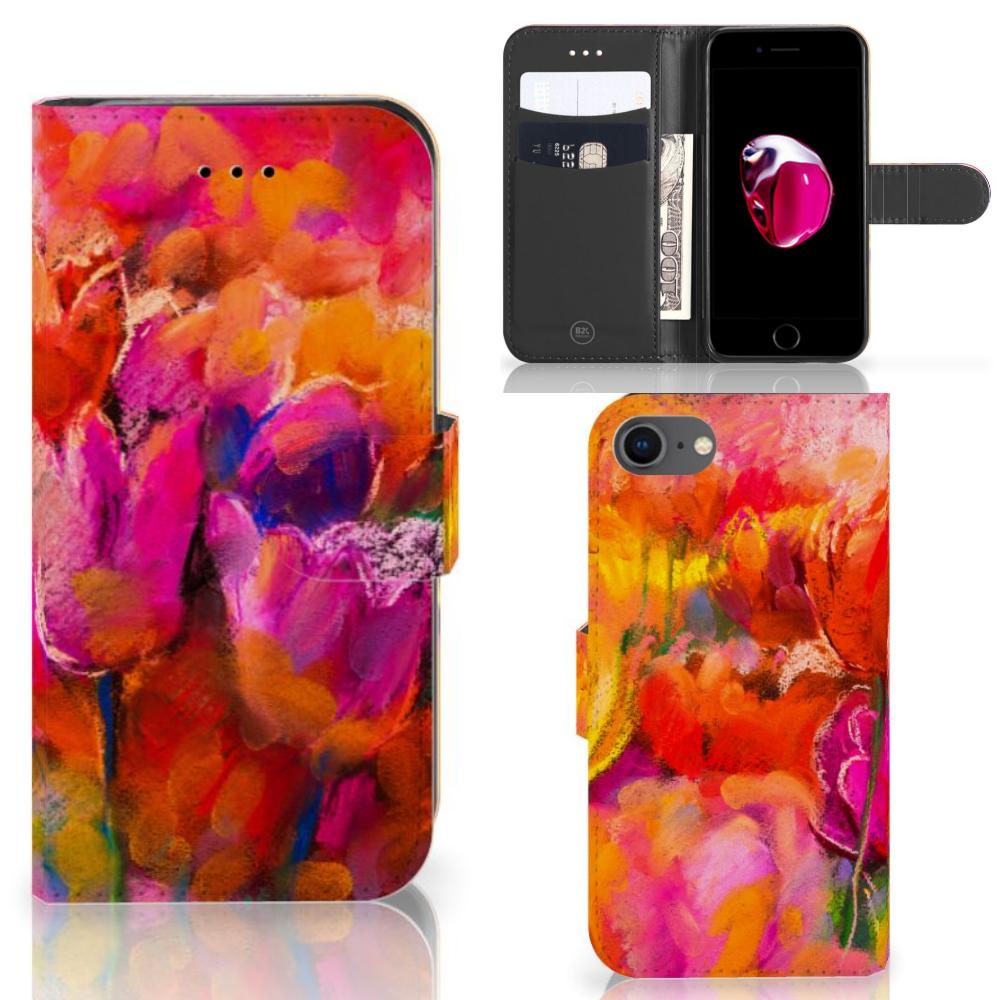 Hoesje iPhone 7   8   SE (2020) Tulips
