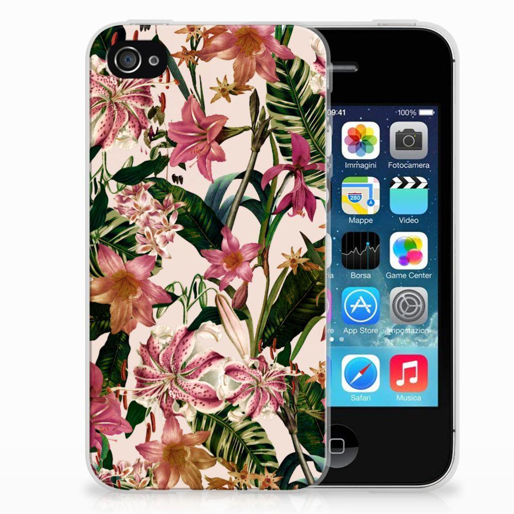 Apple iPhone 4 | 4s Uniek TPU Hoesje Flowers