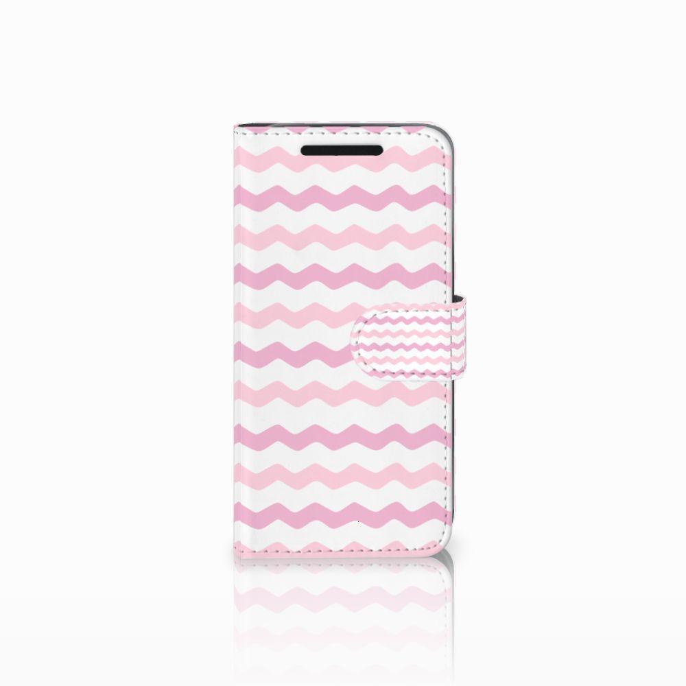 HTC One M9 Uniek Boekhoesje Waves Roze
