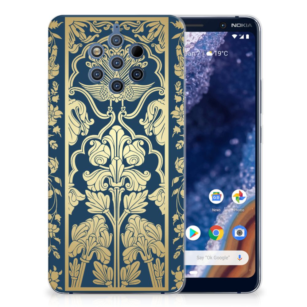Nokia 9 PureView TPU Case Golden Flowers