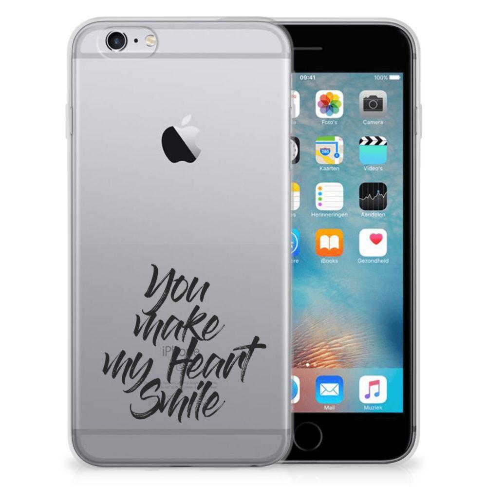 Apple iPhone 6 | 6s Siliconen hoesje met naam Heart Smile