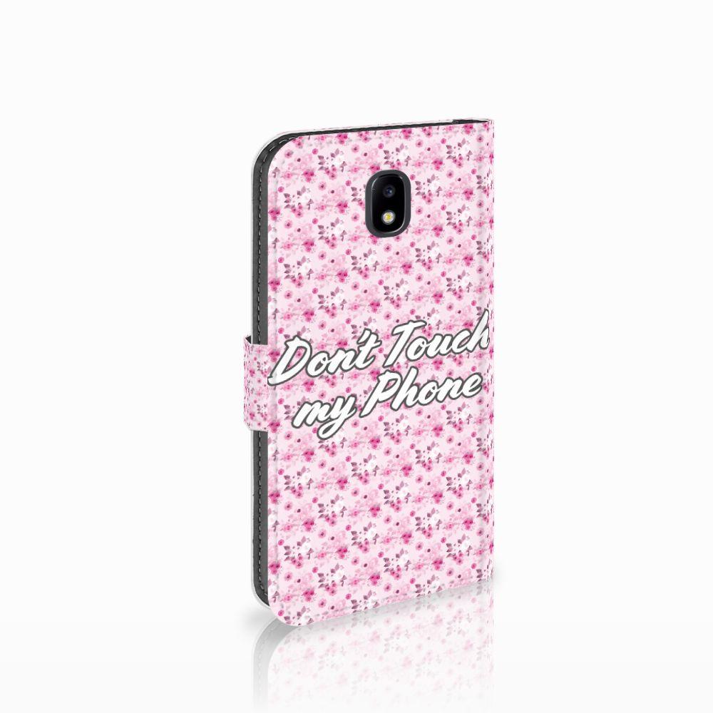 Samsung Galaxy J5 2017 Uniek Boekhoesje Flowers Pink DTMP