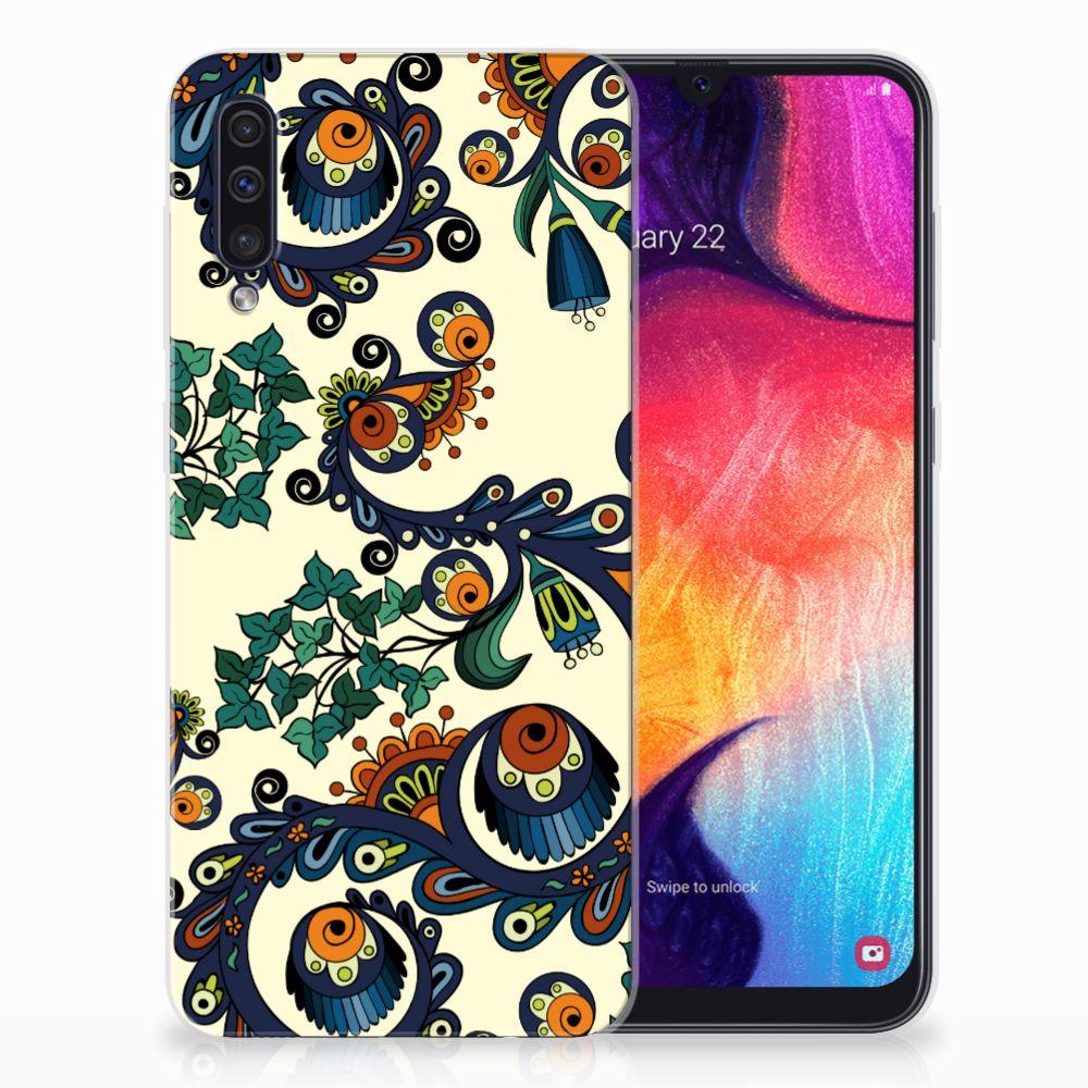 Siliconen Hoesje Samsung Galaxy A50 Barok Flower