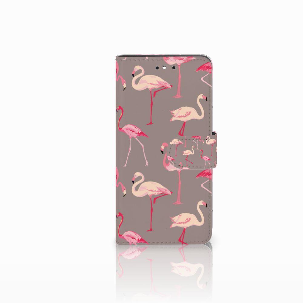 Huawei P8 Lite Smart (GR3) Uniek Boekhoesje Flamingo
