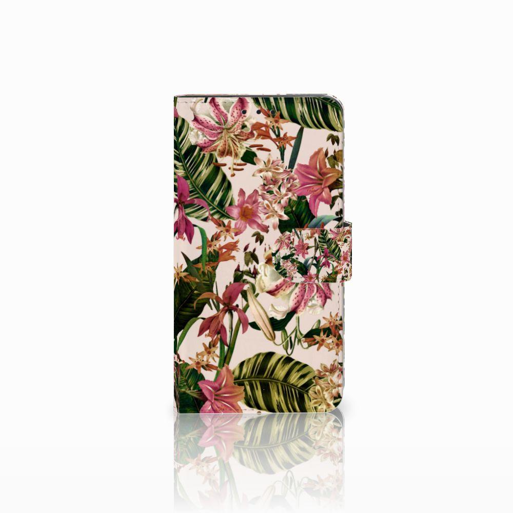 Huawei Honor 6X Uniek Boekhoesje Flowers