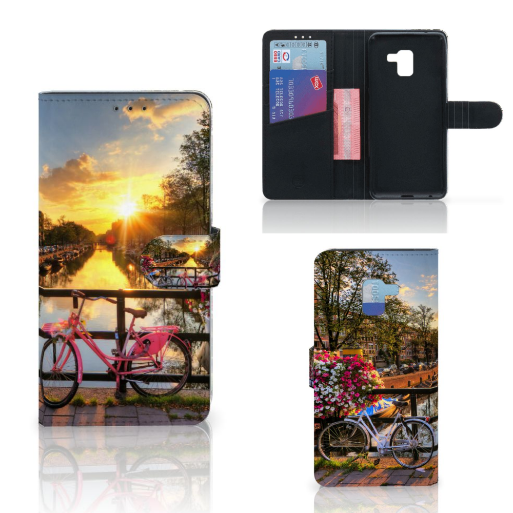 Samsung Galaxy A8 Plus (2018) Flip Cover Amsterdamse Grachten