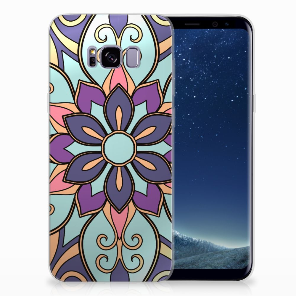 Samsung Galaxy S8 Plus TPU Hoesje Design Purple Flower