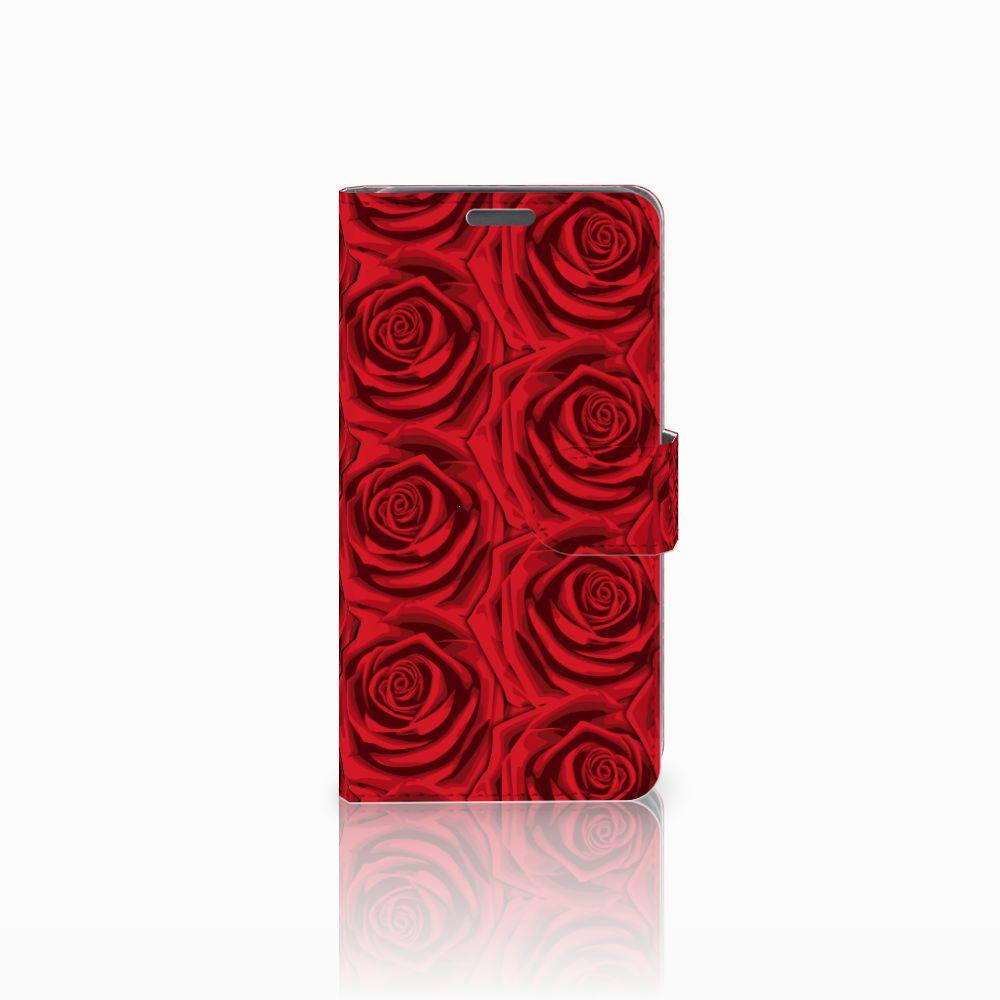 Wiko Lenny Uniek Boekhoesje Red Roses