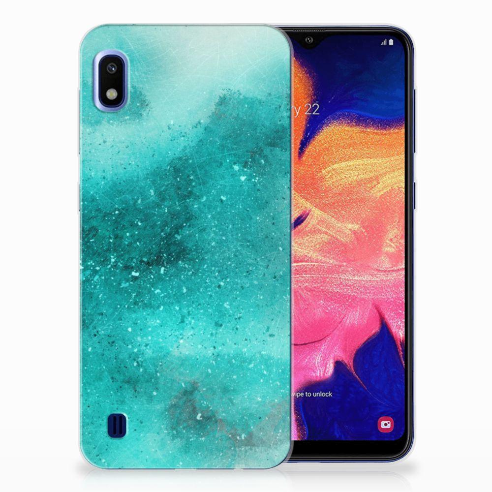 Hoesje maken Samsung Galaxy A10 Painting Blue