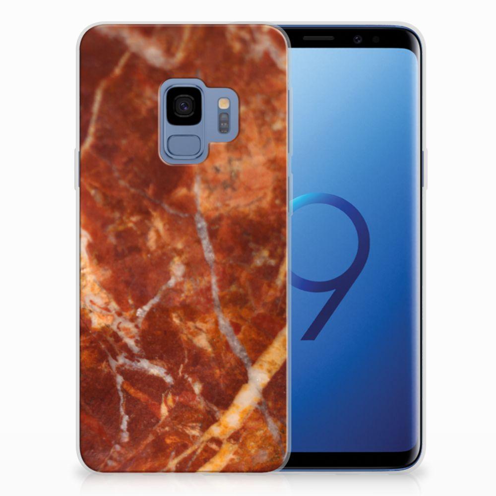 Samsung Galaxy S9 TPU Hoesje Design Marmer Bruin