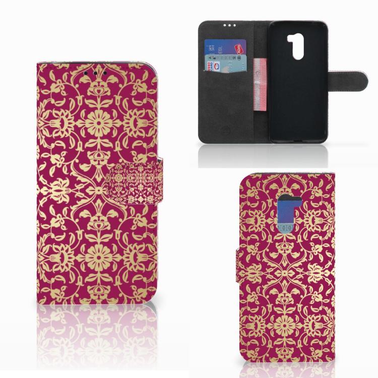 Wallet Case Xiaomi Pocophone F1 Barok Pink