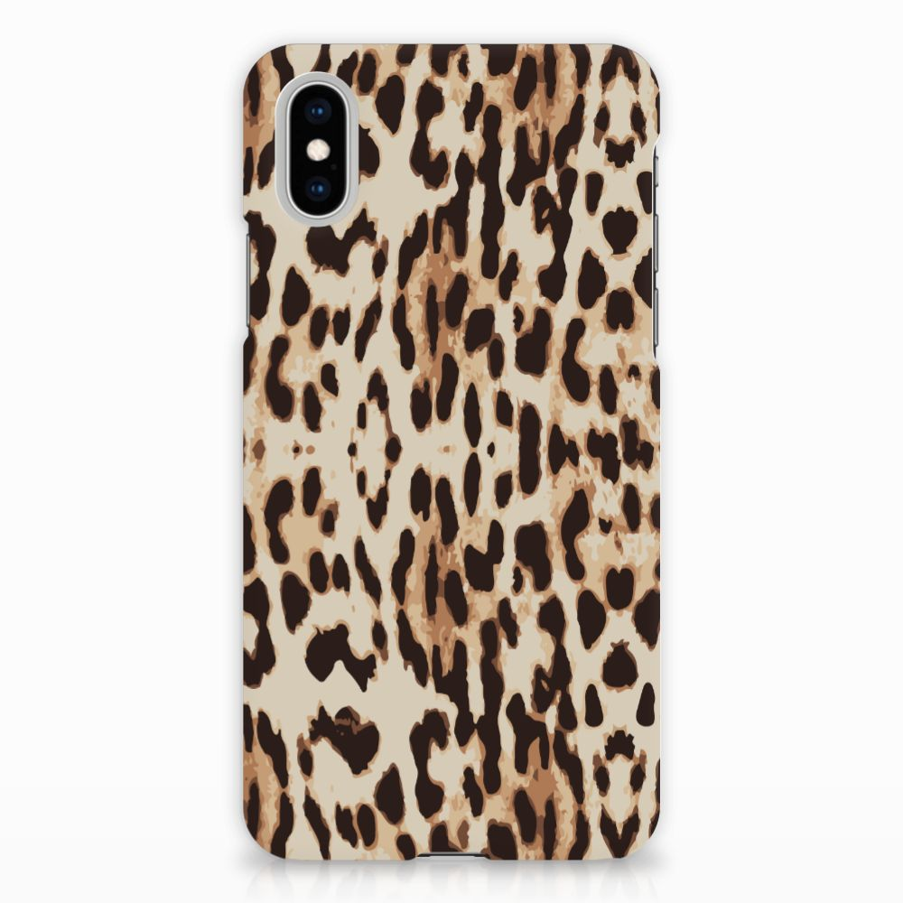 Apple iPhone X | Xs Uniek Hardcase Hoesje Leopard
