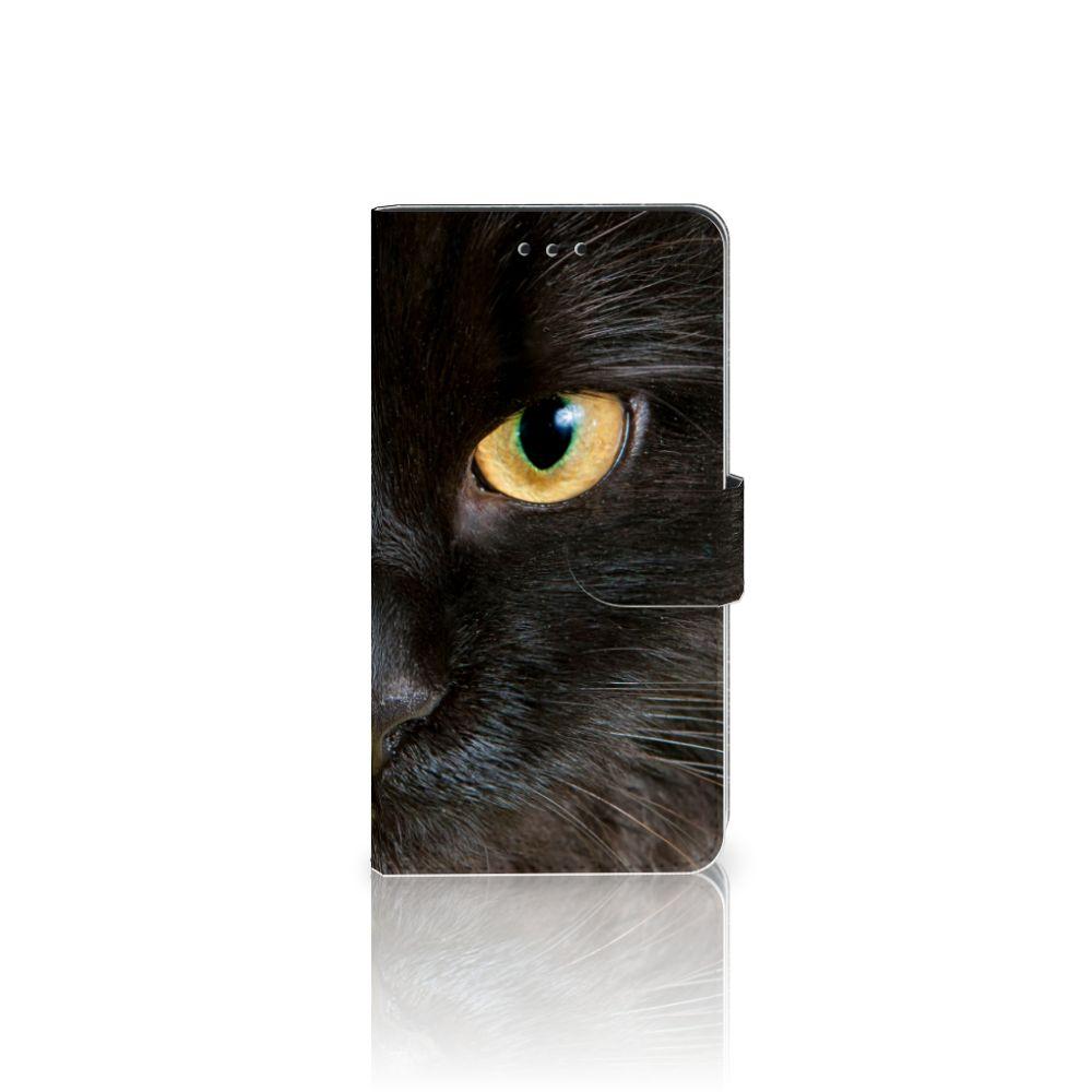 Samsung Galaxy J7 2017 | J7 Pro Uniek Boekhoesje Zwarte Kat