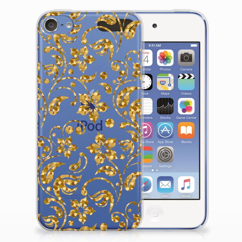 Apple iPod Touch 5 | 6 TPU Case Gouden Bloemen