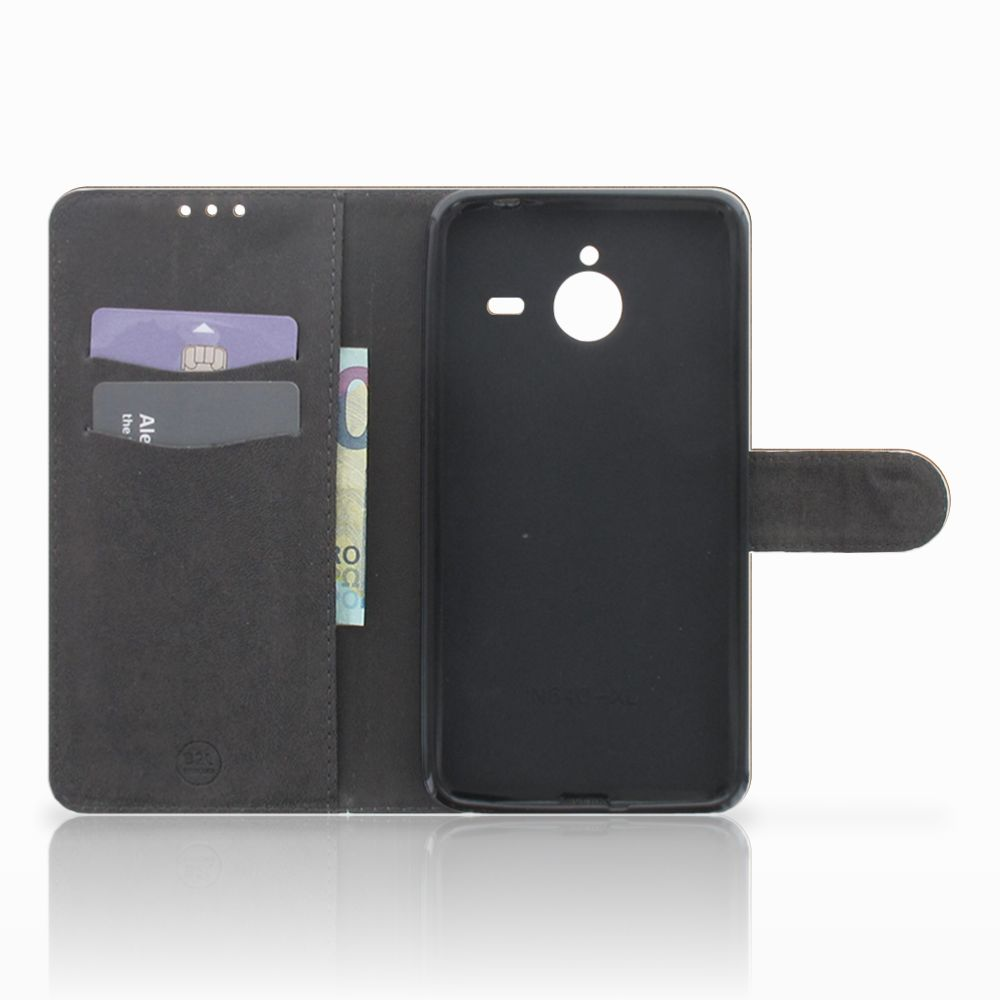 Microsoft Lumia 640 XL Book Style Case Donker Hout