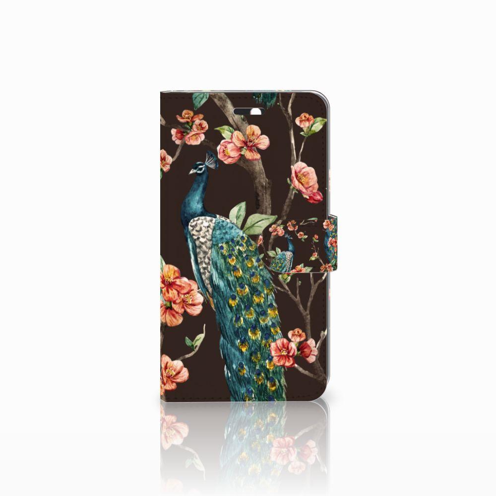 Huawei Y6 II | Honor 5A Boekhoesje Design Pauw met Bloemen