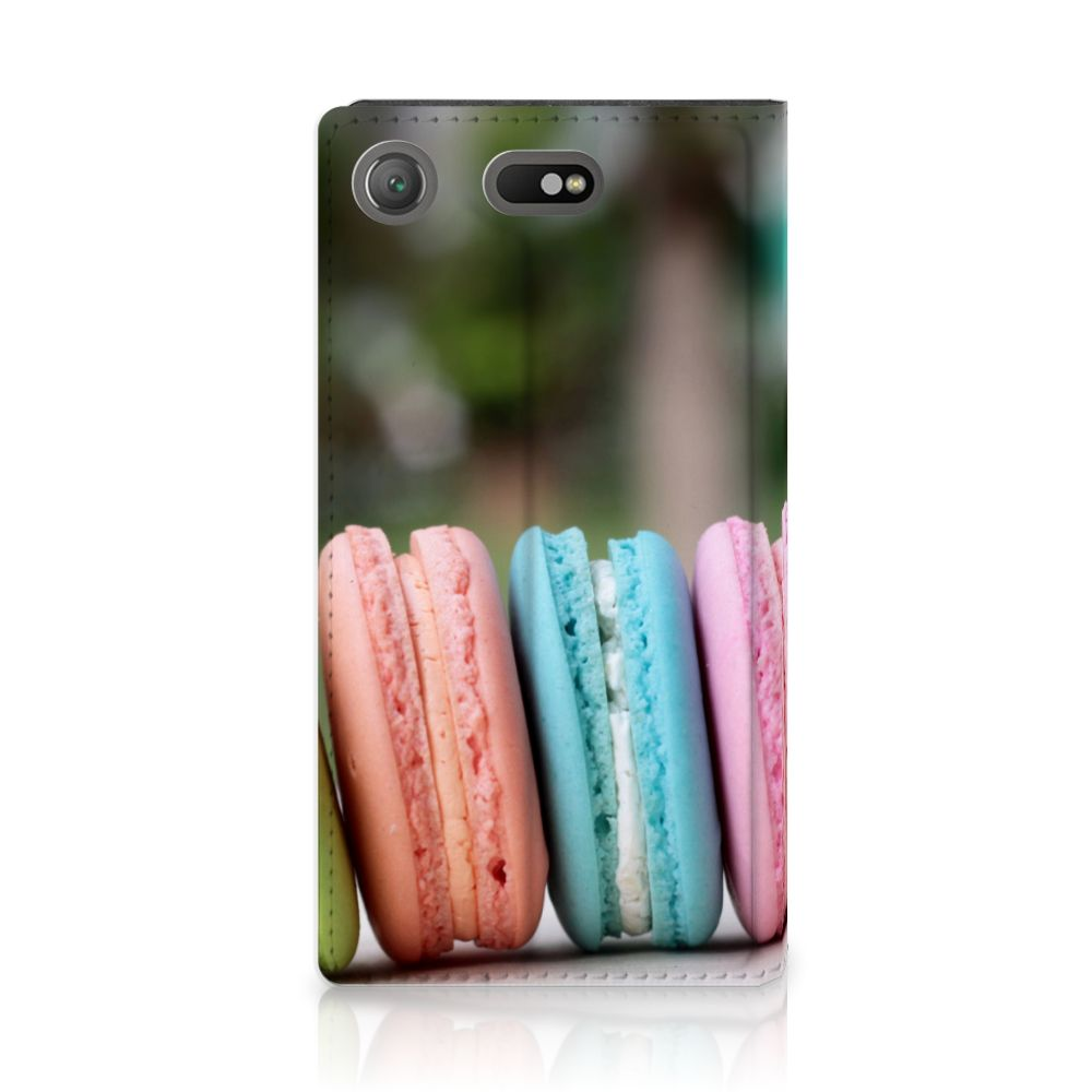 Sony Xperia XZ1 Compact Standcase Hoesje Design Macarons