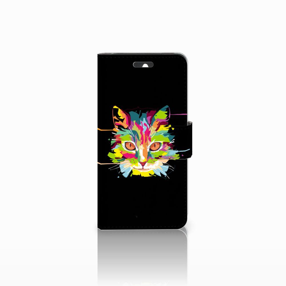 Huawei Ascend Y550 Uniek Boekhoesje Cat Color