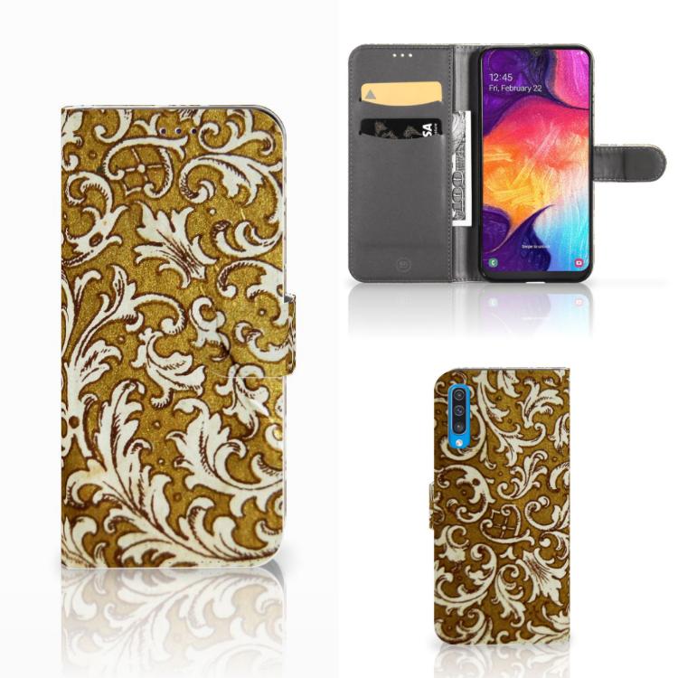 Wallet Case Samsung Galaxy A50 Barok Goud