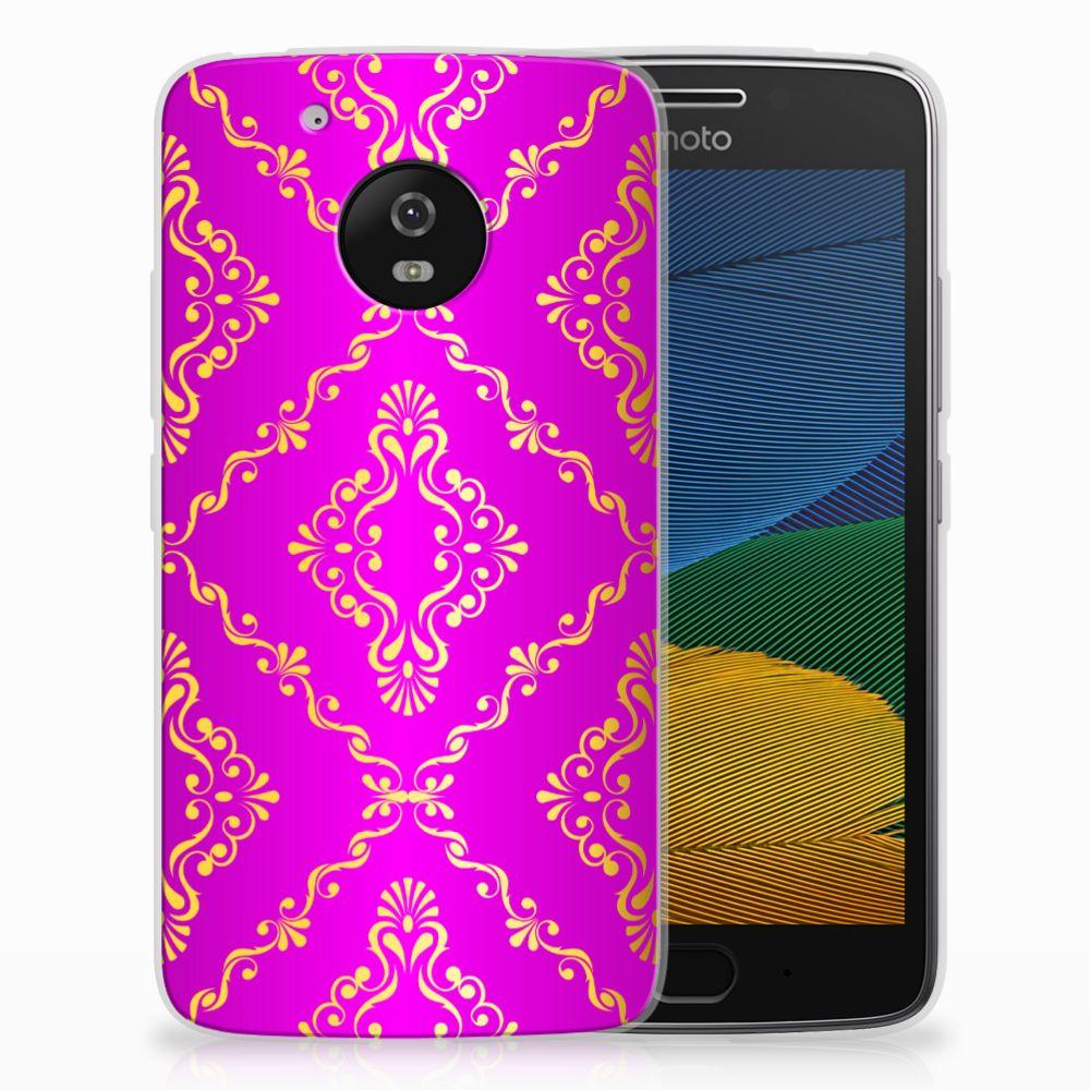 Siliconen Hoesje Motorola Moto G5 Barok Roze