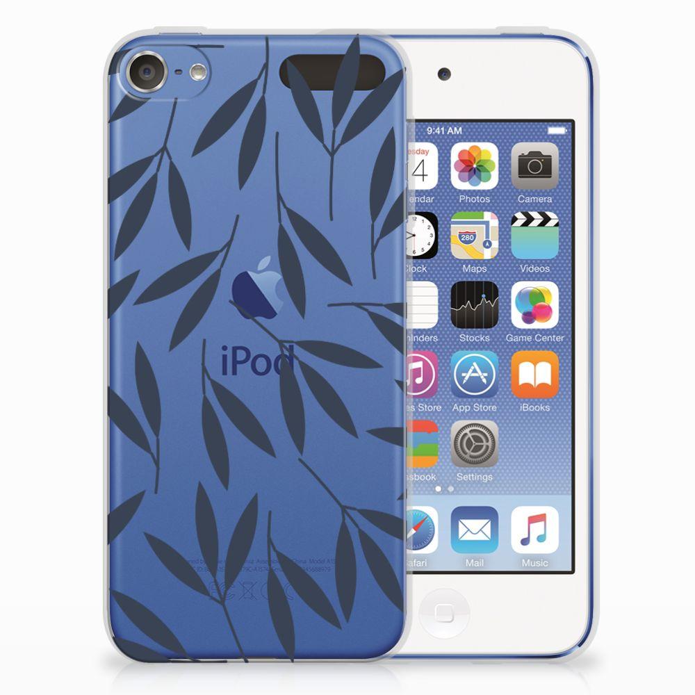 Apple iPod Touch 5 | 6 TPU Hoesje Design Leaves Blue