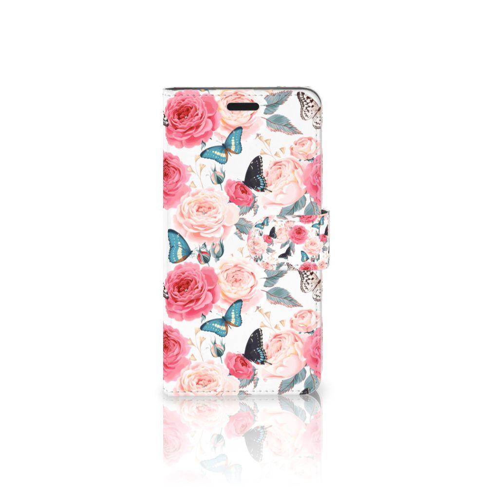 HTC 10 Uniek Boekhoesje Butterfly Roses