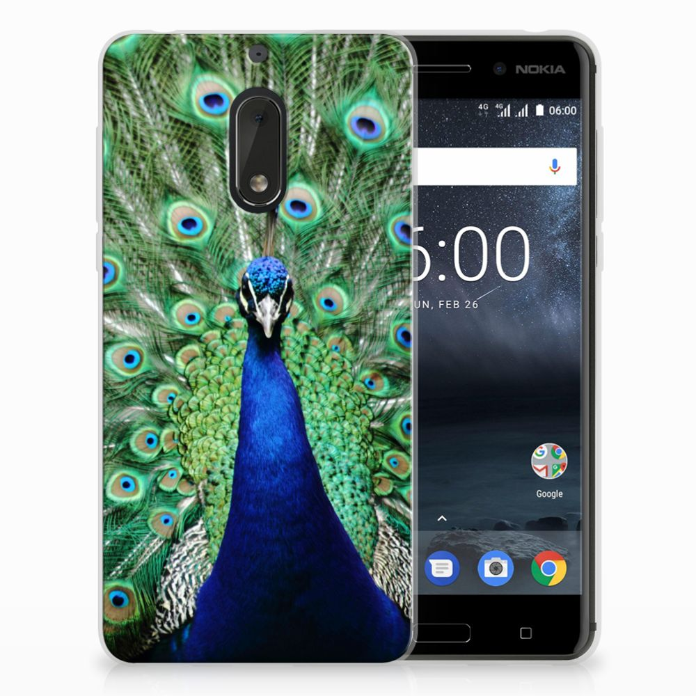 Nokia 6 TPU Hoesje Design Pauw