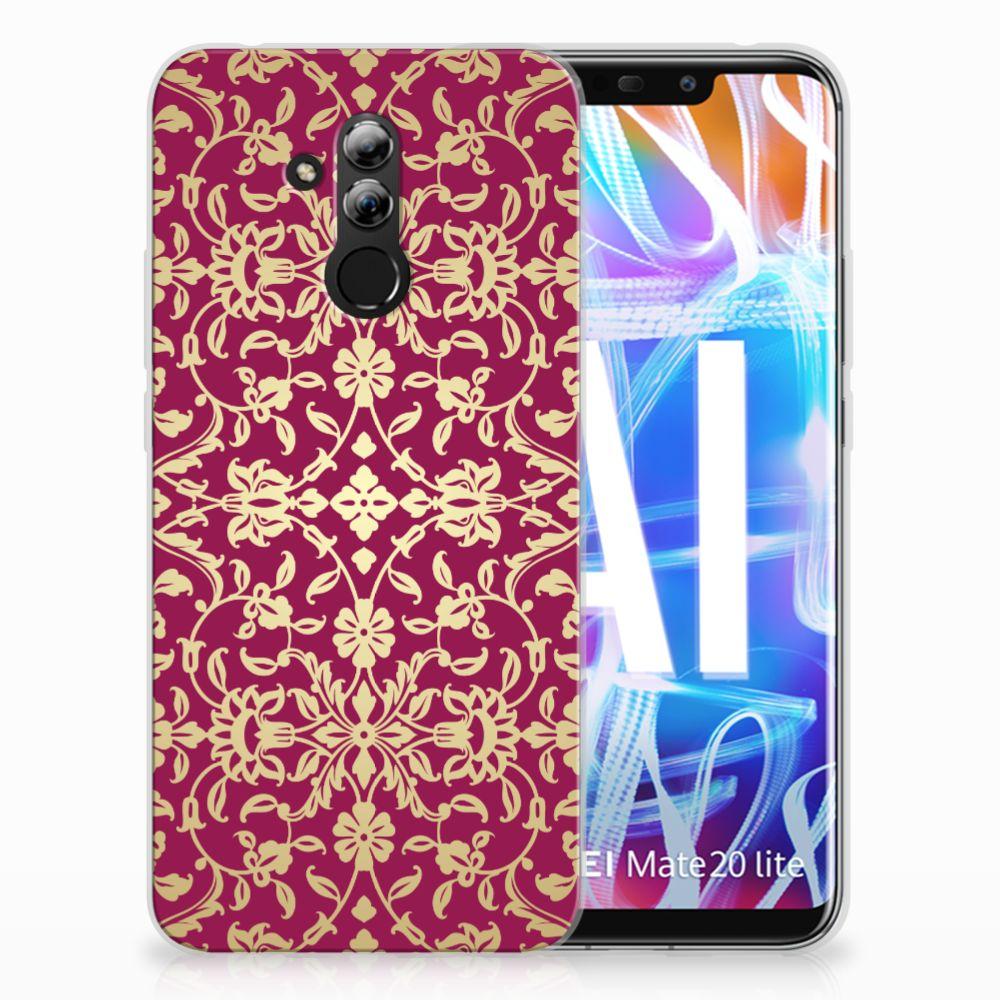 Siliconen Hoesje Huawei Mate 20 Lite Barok Pink