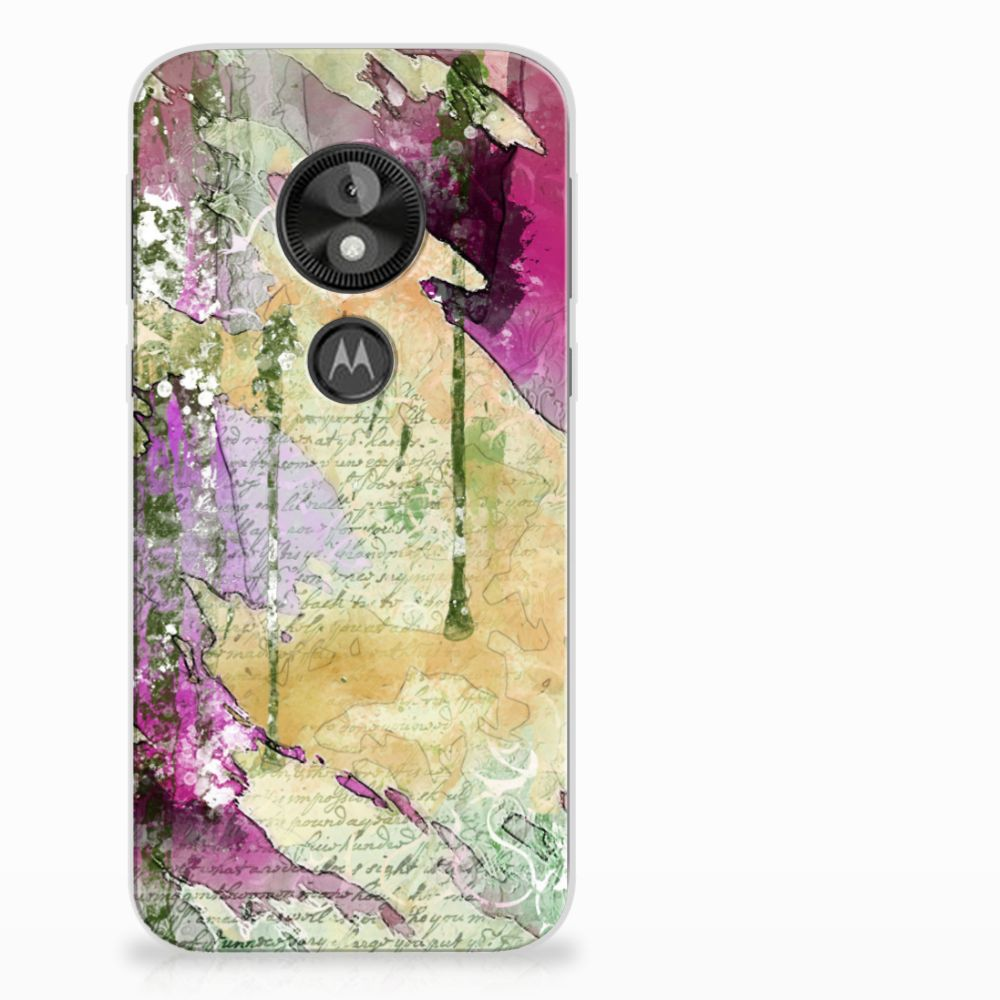 Motorola Moto E5 Play Uniek TPU Hoesje Letter Painting