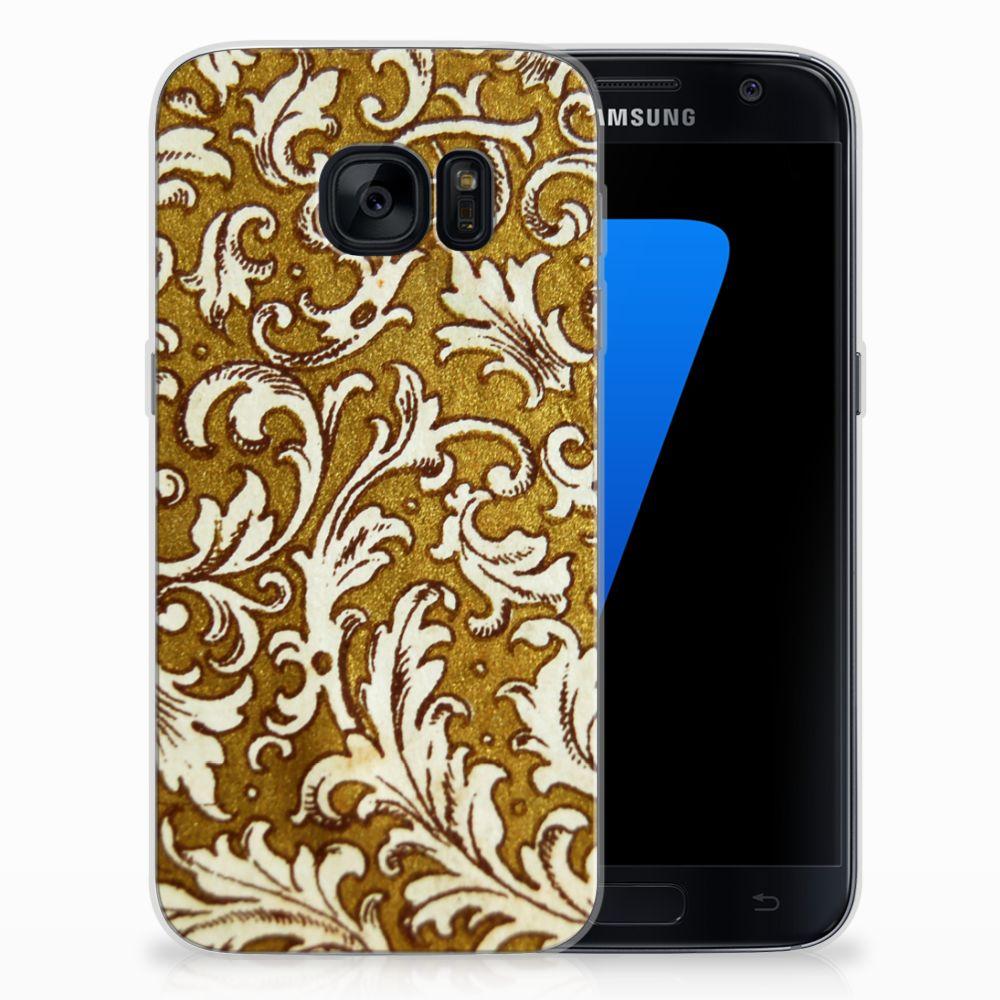 Siliconen Hoesje Samsung Galaxy S7 Barok Goud