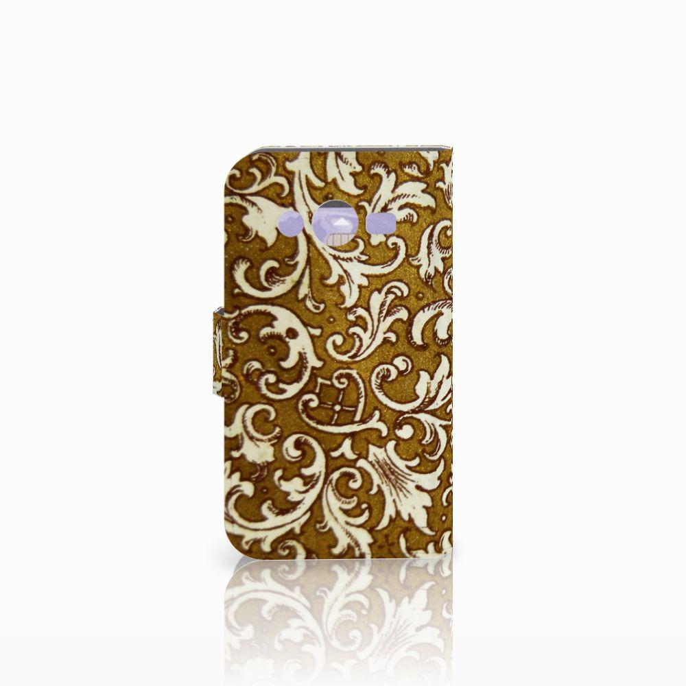 Wallet Case Samsung Galaxy Core 2 Barok Goud