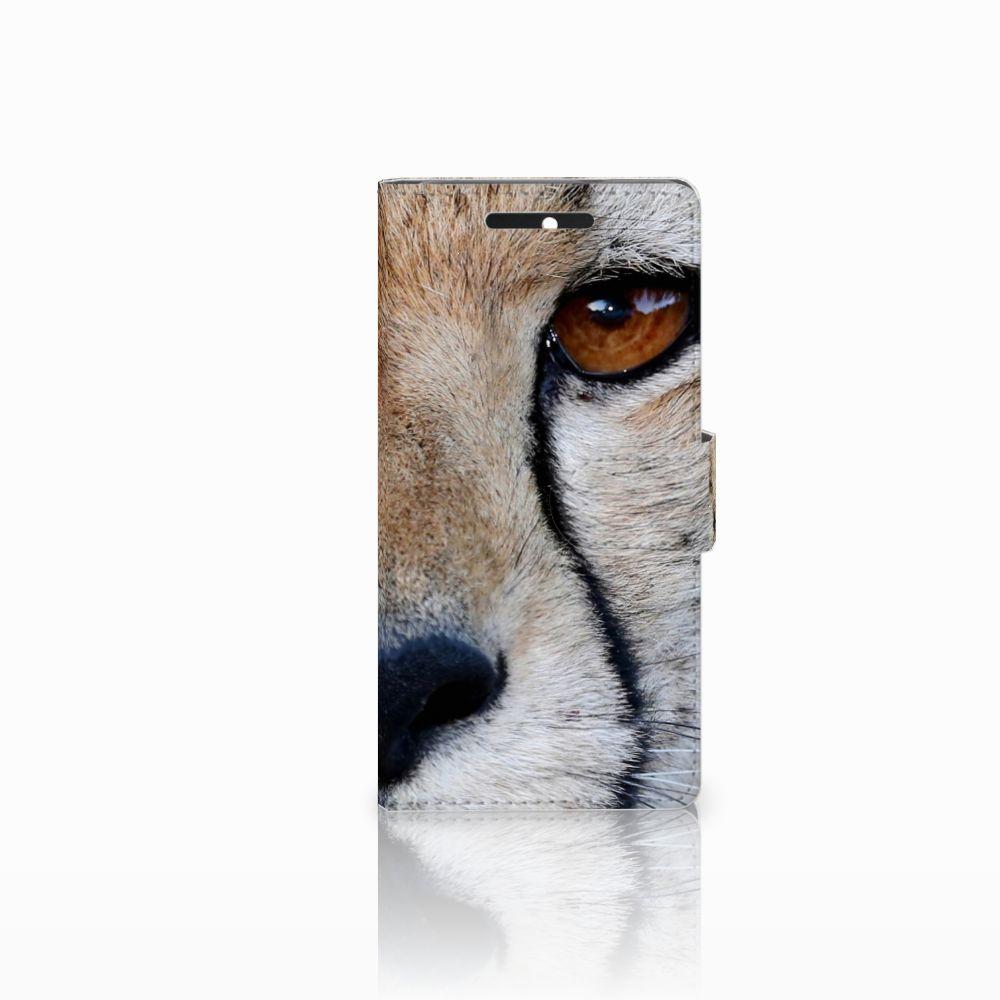 HTC Desire 628 Telefoonhoesje met Pasjes Cheetah