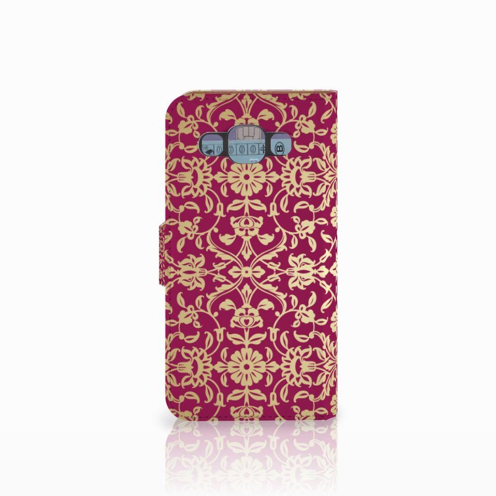Wallet Case Samsung Galaxy E5 Barok Pink