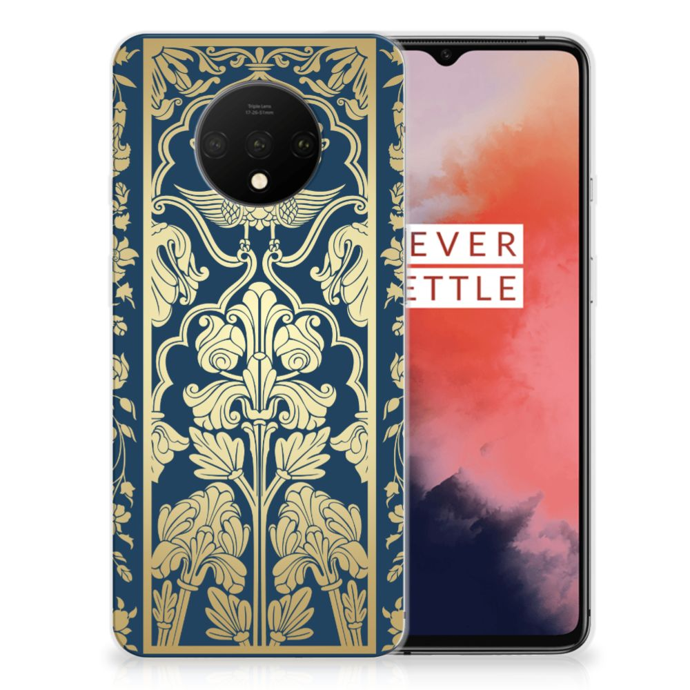 OnePlus 7T TPU Case Golden Flowers
