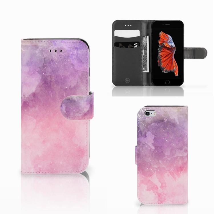 Hoesje Apple iPhone 6 | 6s Pink Purple Paint