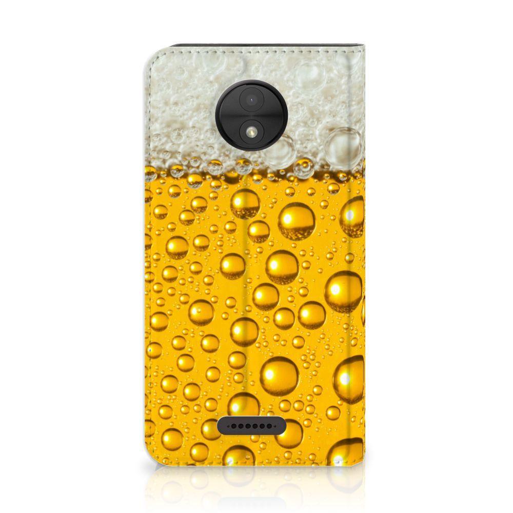 Motorola Moto C Uniek Standcase Hoesje Bier
