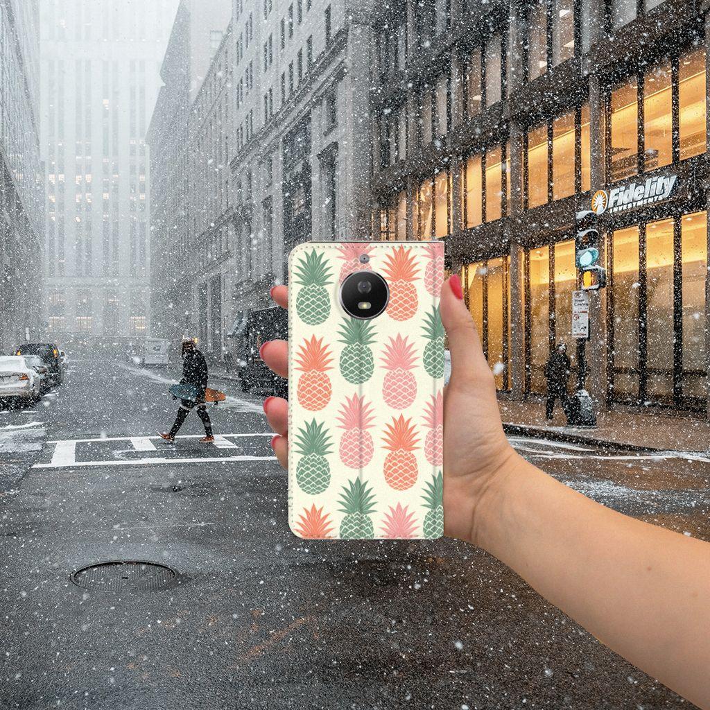 Motorola Moto G5S Flip Style Cover Ananas