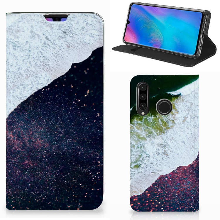 Huawei P30 Lite New Edition Stand Case Sea in Space