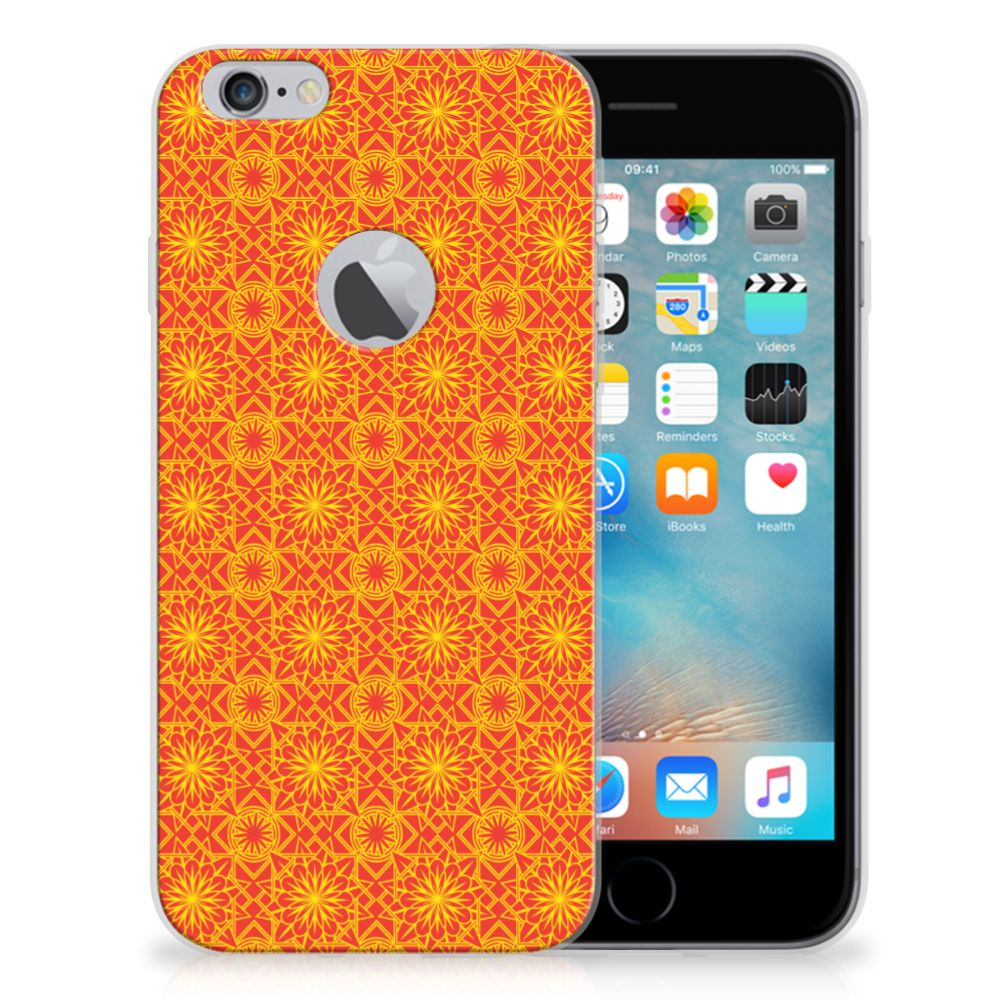 Apple iPhone 6 Plus | 6s Plus TPU bumper Batik Oranje