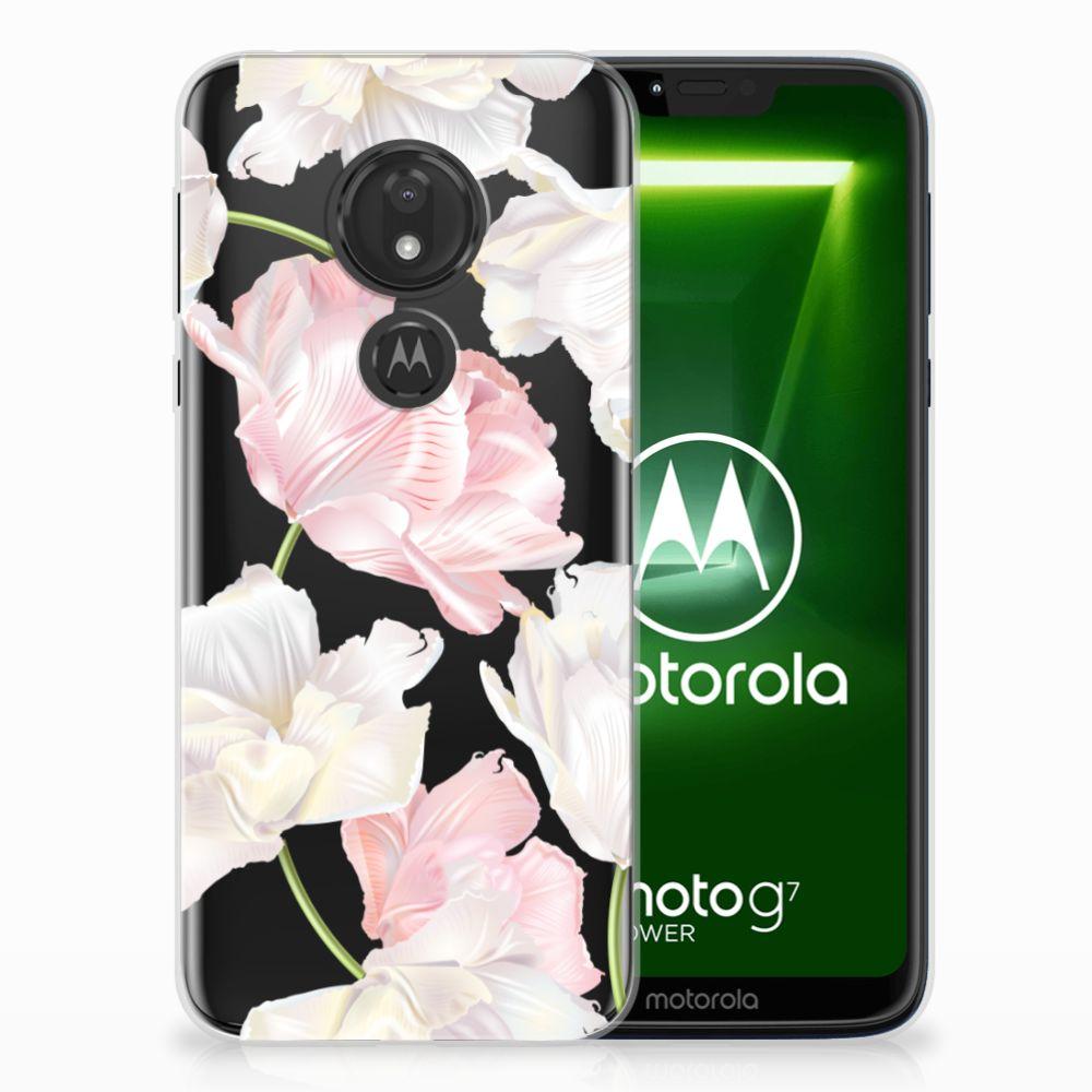 Motorola Moto G7 Power TPU Hoesje Design Lovely Flowers