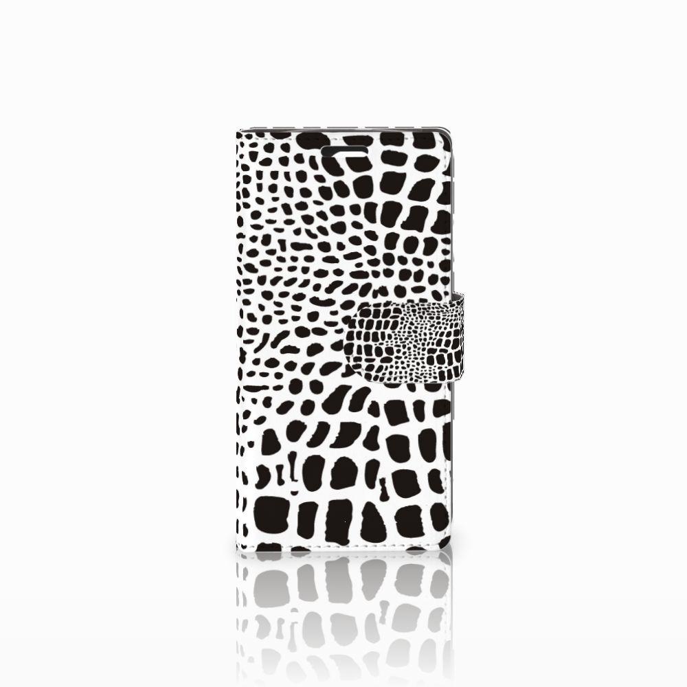 LG Spirit Telefoonhoesje met Pasjes Slangenprint