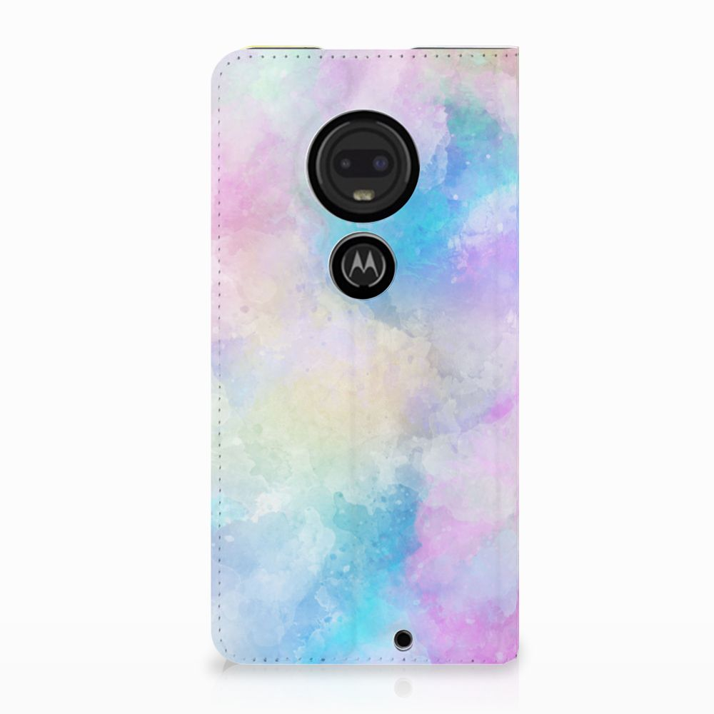 Motorola Moto G7 | G7 Plus Uniek Standcase Hoesje Watercolor Light