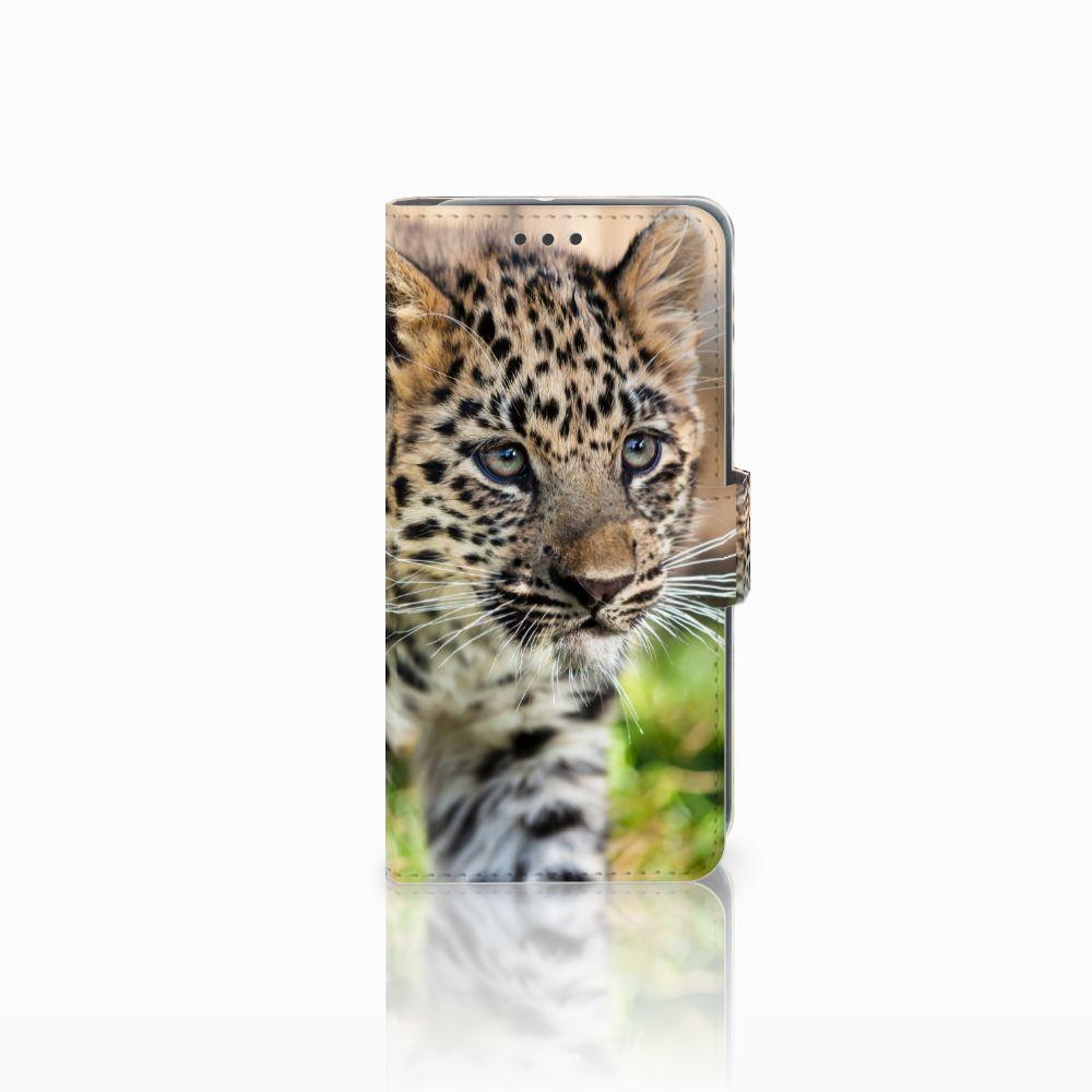 HTC U11 Life Uniek Boekhoesje Baby Luipaard