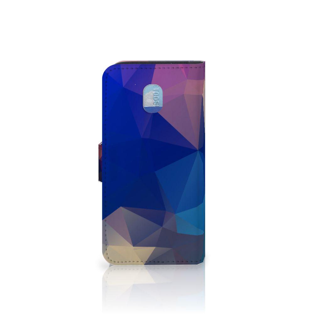 Samsung Galaxy J3 (2018) Bookcase Polygon Dark