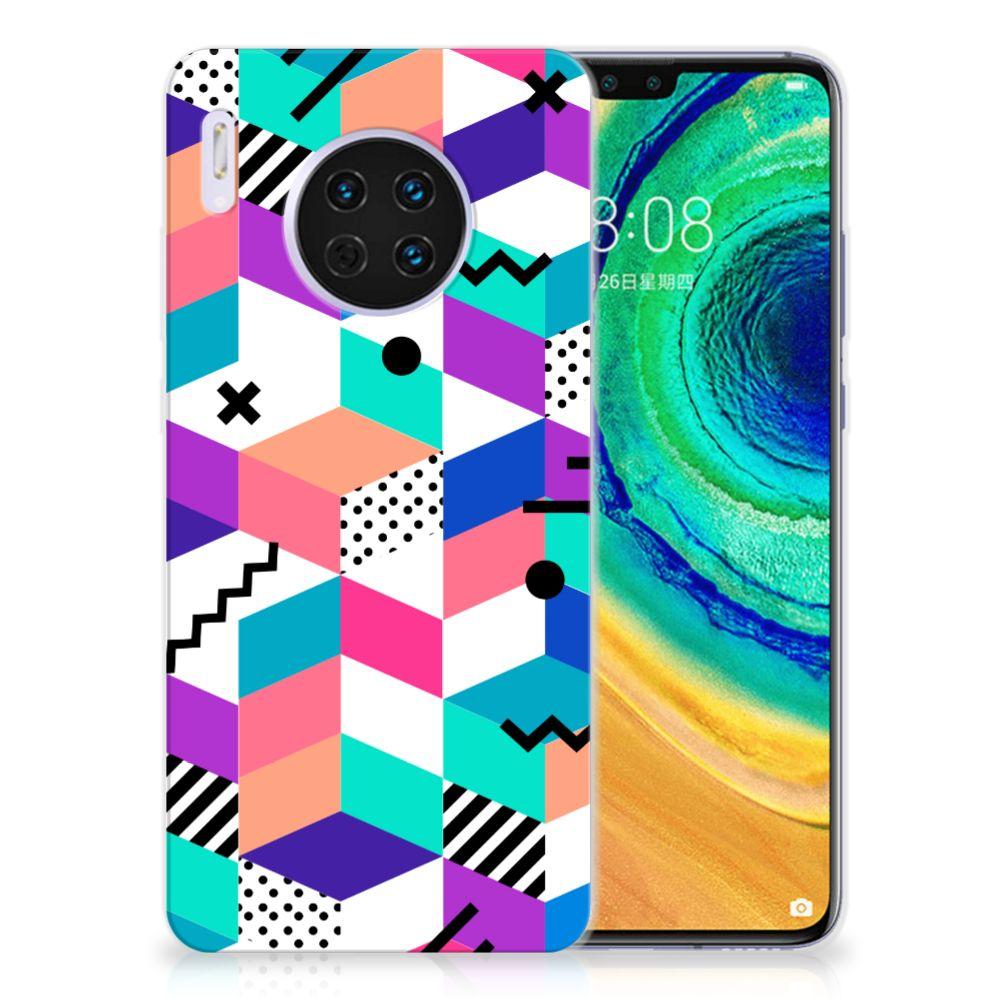 Huawei Mate 30 TPU Hoesje Blokken Kleurrijk