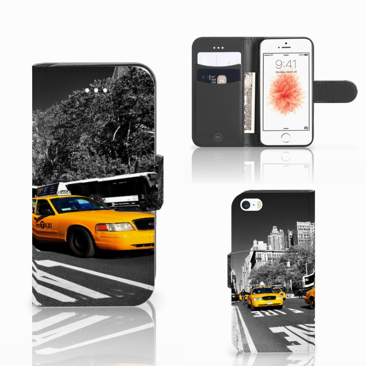 Apple iPhone 5 | 5s | SE Flip Cover New York Taxi