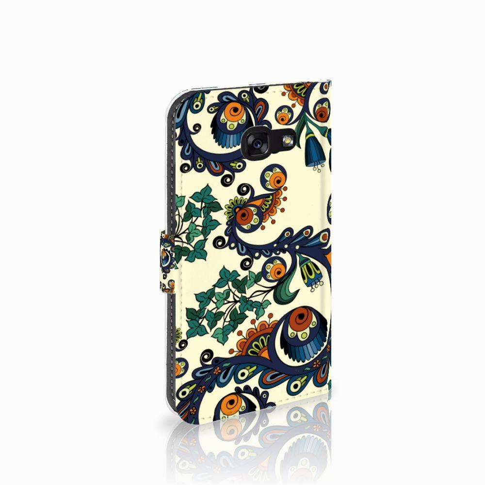 Samsung Galaxy A5 2017 Boekhoesje Design Barok Flower