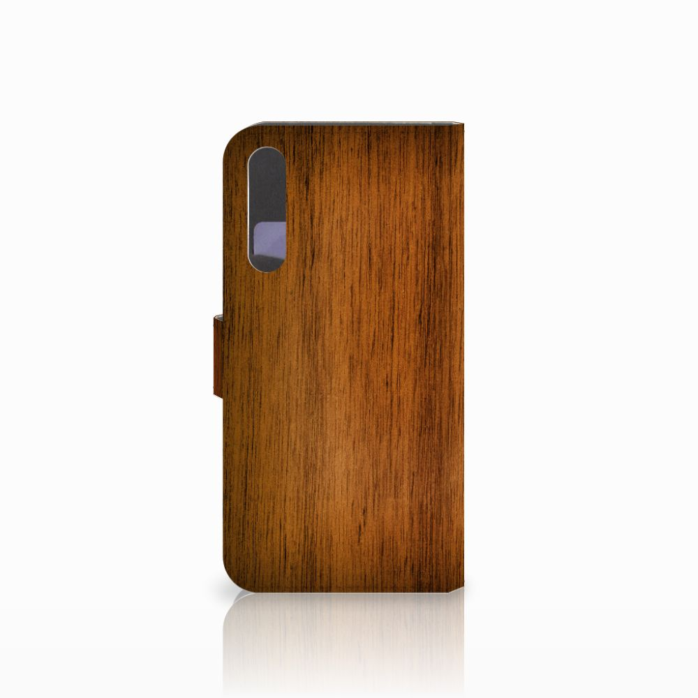 Huawei P20 Pro Book Style Case Donker Hout