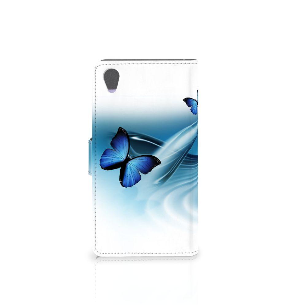 Sony Xperia Z1 Telefoonhoesje met Pasjes Vlinders
