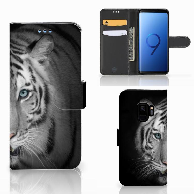 Samsung Galaxy S9 Telefoonhoesje met Pasjes Tijger
